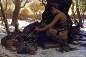 Elihu Vedder - Marsyas Enchanting the Hares