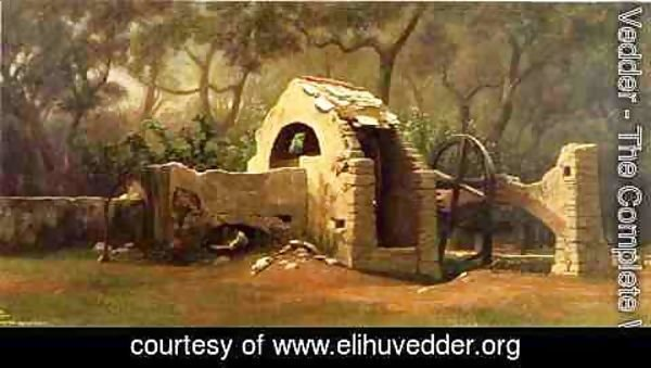Elihu Vedder - The Old Well, Bordighera