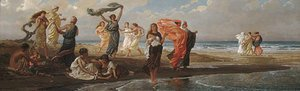 Elihu Vedder - Greek Girls Bathing