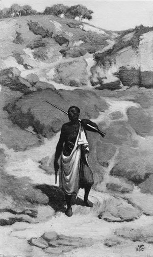 Elihu Vedder - The African Sentinel