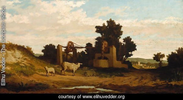 Landscape with Sheep and Old Well, c.1857
