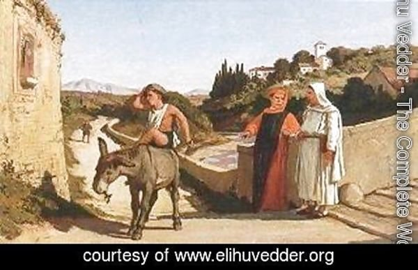 Elihu Vedder - Aesop's Fable, The Miller