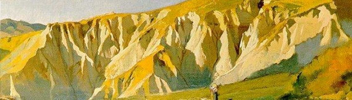 Elihu Vedder - Cliffs of Volterra