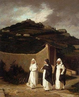 Elihu Vedder - Dominicans. A Convent Garden, near Florence