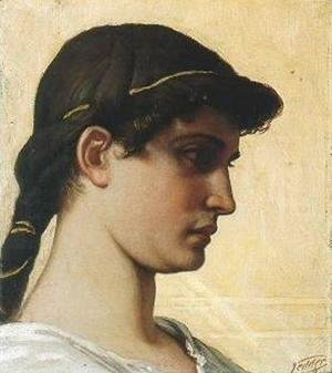 Elihu Vedder - Head of a Roman Maiden