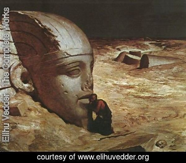 Elihu Vedder - Listening to the Sphinx