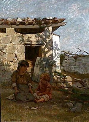 Elihu Vedder - A Summer's Afternoon, Capri