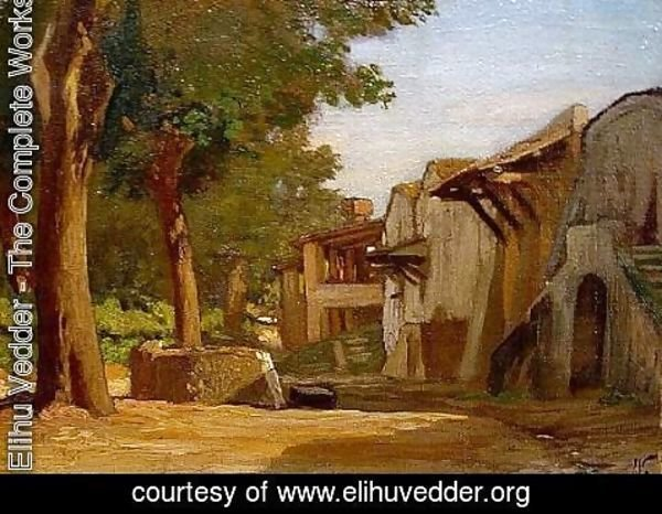 Elihu Vedder - Monte Testaccio, The Wine Cellars