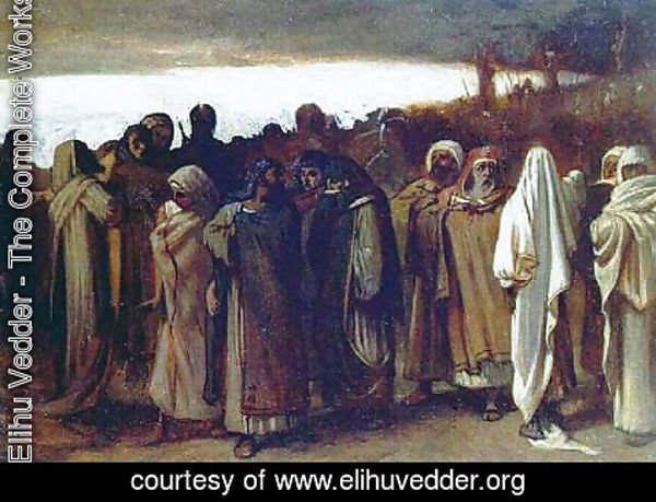 Elihu Vedder - Study for the Ninth Hour