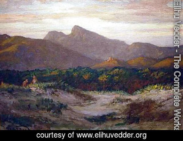 Elihu Vedder - Sunset in the Tuscan Hills