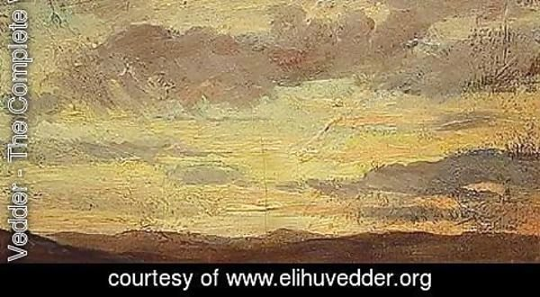Elihu Vedder - Sunset over the Tuscan Hills