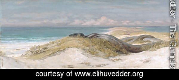 Elihu Vedder - Lair of the Sea Serpent 1899