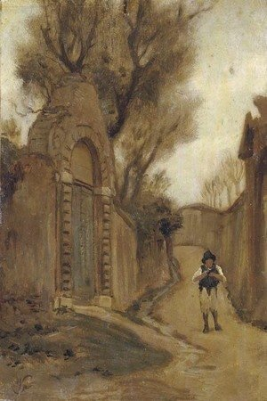 Elihu Vedder - Arco Scuro Near Studio Via Flaminia, Rome