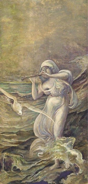 Elihu Vedder - Sea Nymph