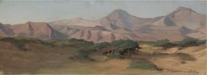 Elihu Vedder - Between Perugia And Gubbia