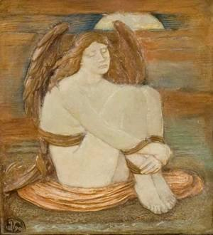 Elihu Vedder - Soul in Bondage, relief