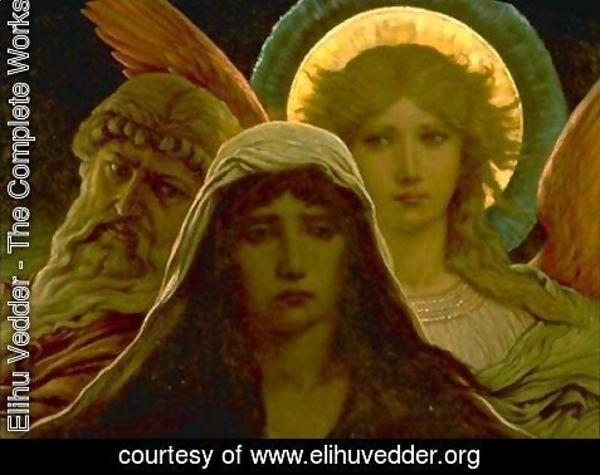 Elihu Vedder - The Sorrowing Soul Between Doubt and Faith (1884)