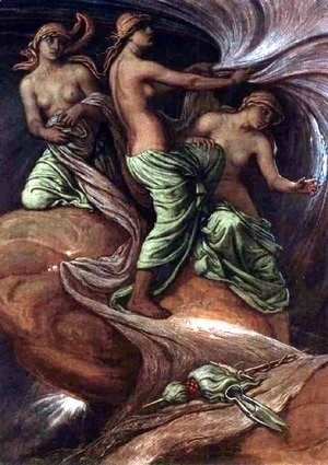 Elihu Vedder - The Three Fates