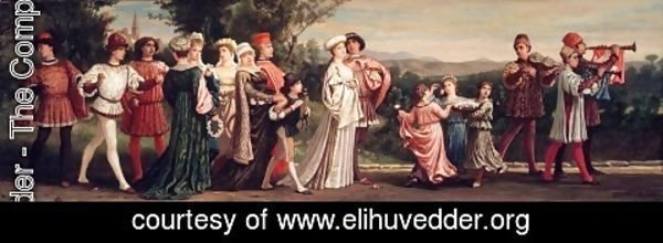 Elihu vedder the complete works wedding procession 1872 1875 elihu vedder wedding procession 1872 1875 junglespirit Images