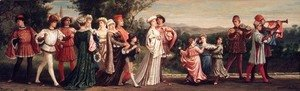 Elihu Vedder - Wedding Procession 1872-1875