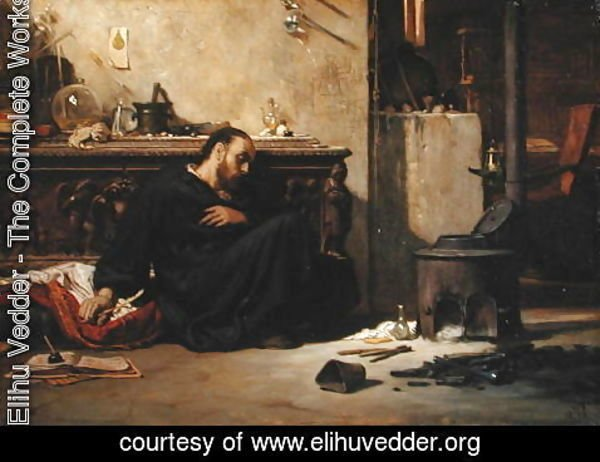 Elihu Vedder - The Dead Alchemist 1868